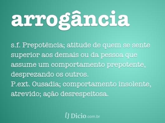 arrogancia