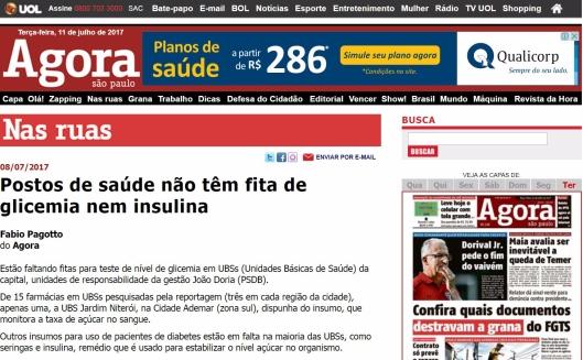 Reportagem do Jornal Agora